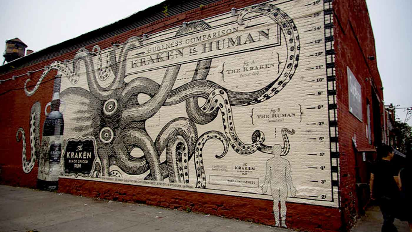 Kraken Painted Wall
