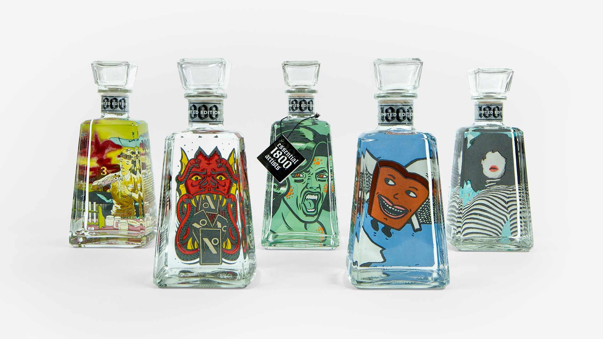 1800 – artist bottles