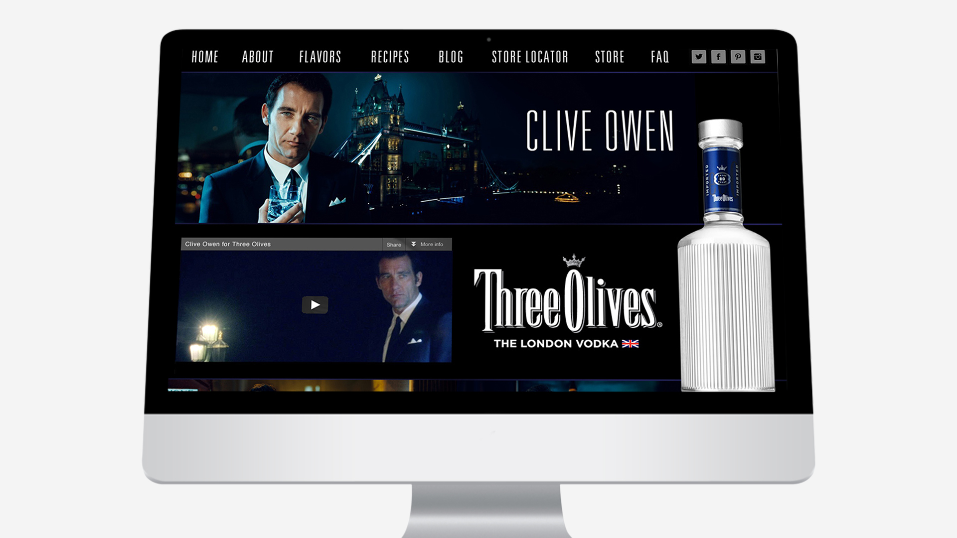 Three Olives – Website