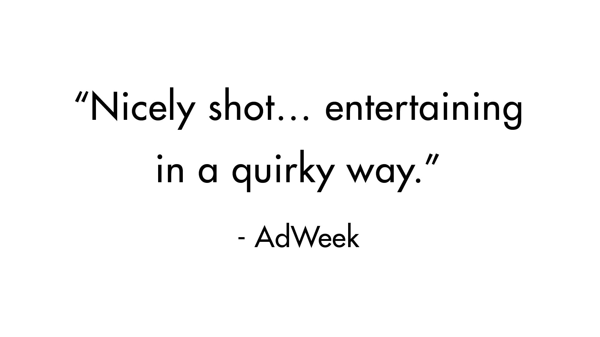 Hangar 1 – Press Quote – Adweek